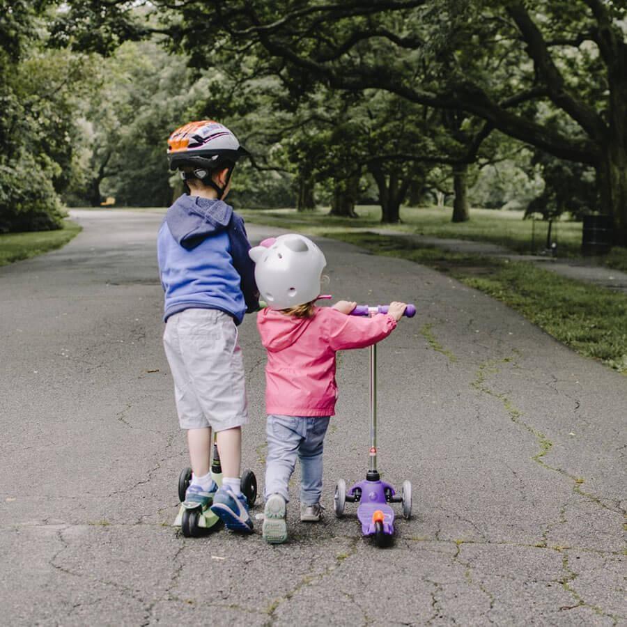 Kids love ride on together